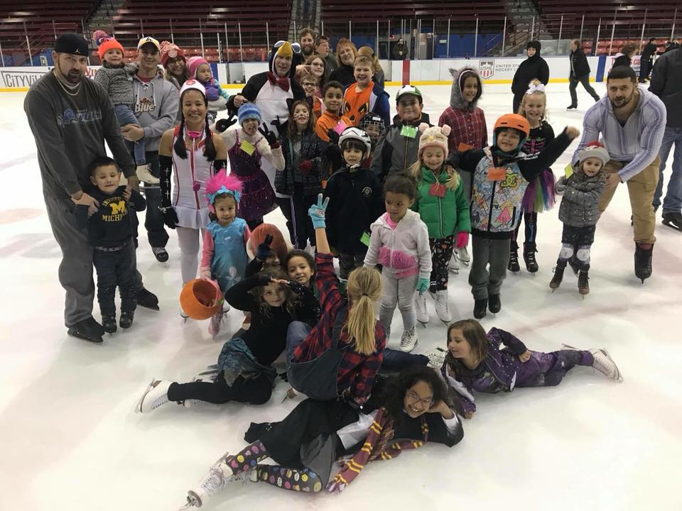 Image result for halloween ice skate party